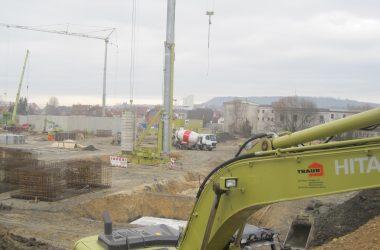 Neubau Kaufland – Bauarbeiten in der Julius-Bausch-Straße