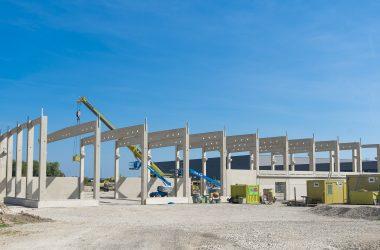 Neubau einer Produktions- und Lagerhalle: Rompa / Leipheim