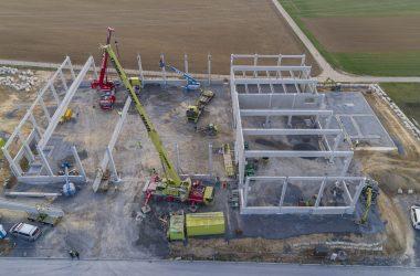 Neubau Produktionshalle mit Lager- und Bürogebäudekomplex: Dörr / Leingarten